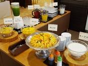 【朝食バイキング一例】フルーツコーナー
