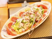【夕食バイキング一例】日替り「野菜たっぷり生ハムサラダ」