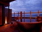 汐見亭・露天風呂付客室☆温泉です