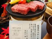 お口の中でとろけるような極上のお肉~能登牛ステーキ