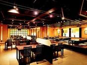 ダイニングレストラン「えん」。夕食は20:30スタートまでok(~21:30)