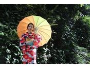 京都の街並みにもぴったり。7月~8月は浴衣レンタルのみです☆※写真はイメージ