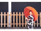 【着物レンタル付宿泊プラン京都の街並みにもぴったり※写真はイメージです。
