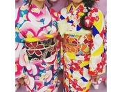 【着物レンタル付宿泊プラン】デザイン着物を選ぶのもわくわく!!※写真はイメージです。