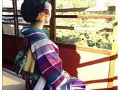 【着物レンタル付宿泊プラン】プランには着付け代も含まれているから安心!※写真はイメージ