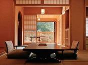 *<和邸 山王院「鶴」>本館の中でも一番広い大きさの和室二間+専用露天風呂を持ち合わせたお部屋。