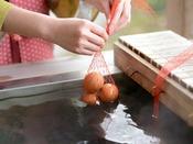 当館の源泉を使用し、お客様ご自身で温泉玉子を作ることができます。