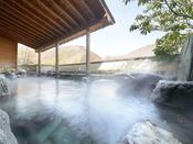 自家源泉から引いた、あふれんばかりの豊富な湯量が自慢!柔らかな感触の優しい泉質が人気です。