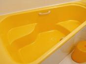 【Baby's Sweet】オランジュのバスルーム。オランジュだけの三角浴槽で親子仲良くバスタイム!