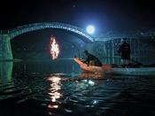 【錦川のう飼い】 清流錦川の水面をゆらめき照らす幻想的なかがり火が神秘的な、夏の風物詩。