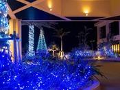 聖夜のクリスマスイルミネーション