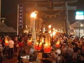 吉田の火祭り(8月26日)/日本三奇祭の一つ