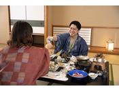 お部屋食★自分たちだけの空間で贅沢なお食事を♪(お部屋食専用プランでご予約下さい)