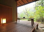 *<和邸 山王院「澄」> 専用の庭園を構えた茶室付きのお部屋。日本の文化をたっぷり味わえます。