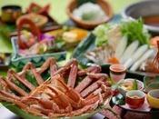 ズワイ蟹をふんだんに用いたカニスキ鍋会席。(10~3月冬季)