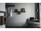12平米・140cmシモンズベッド備品類は壁掛けスタイル