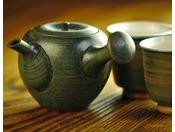 【和室 あずまし】りんごをイメージした八戸焼茶器セット