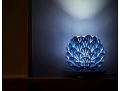 【和室 えんつこ】青森県の特産品であるホタテを模してぬくもりある光を紡ぐほたてライト。