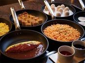 朝食ブッフェ「人気の卵料理を豊富にご用意しております。」