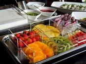 朝食 ブッフェ「季節のフルーツをご準備しています。」