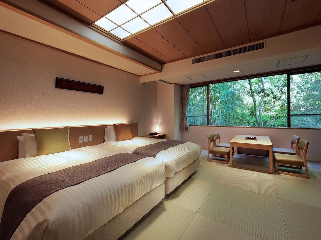 2020年客室リニューアル『朱雀亭山側/和室(ベッド2台)』