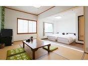 202号室 和洋室ツイン 15平米+7.5畳