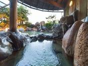 【庭園露天風呂】 ※ゆっくりと温泉に浸かってリラックスを♪