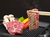 口の中でトロけるようなブランド牛「飛騨牛ステーキ」約50g!