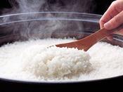 土釜で炊き上げたふっくらとした御飯