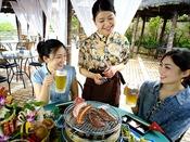 飛騨牛・豚肉・野菜の炭焼きバーベキュー!夏季限定屋外ビアガーデンでお楽しみ下さい☆
