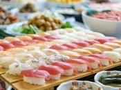 【握り寿司(夕食)】サーモンまぐろにエンガワに甘えび♪シャリは魚沼産コシヒカリ!