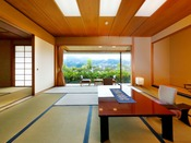 【スウィート東館】和室2間(又は和洋室)構成の広さ、部屋から浴室まで全てがゆつたり