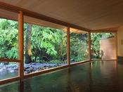 【山の湯】平成30年4月新装オープン。山の緑を目の前で満喫できる屋内風呂。無料・送迎あり
