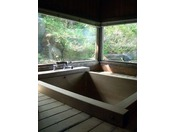 お二人様でもゆったり入れる檜風呂・・・陽だまりの家