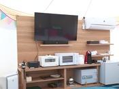【GLAMPING OLIVE TERRACE SHIMABARA】充実の家電製品!ほんとにテント?