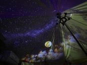 【GLAMPING OLIVE TERRACE SHIMABARA】テント内のプラネタリウムが幻想的な雰囲気を演出♪