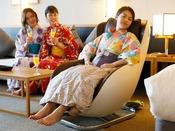 【グランドオーシャンズ】お部屋備え付け全身マッサージ機で、疲れた体を癒しましょう