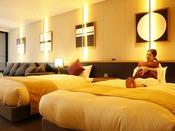 【グランドオーシャンズ】温泉につかった後は、シモンズ社製のベッドの上でちょっと休憩♪