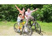 【レンタサイクル】ホテル周辺を冒険してみよう!(料金:1時間500円~)安心の電動自転車も有。冬季休業。