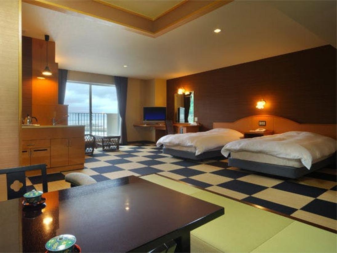 客室露天風呂付和洋タイプの特別室(58.5平米)