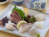 蒸し釜体験プランの選べる海鮮メニューの一品★刺身定食!