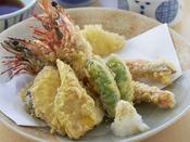 蒸し釜体験プランの選べる海鮮メニューの一品★よくばり御膳(てんぷらがついてます)