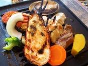 やわらか長崎県産牛★コリコリ♪アワビの踊り焼き★ぷりぷりロブスター(半身)★鮮度バツグンの海鮮セット