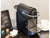 デラックスフロアの一部タイプにはコーヒーマシンをご用意