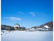 【外観】冬の青森屋