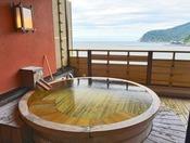 「贅の二間和室Aタイプ」露天風呂例