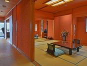 贅沢な広さの特別室