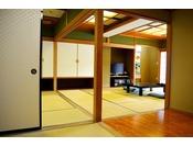 駿河湾に面した「贅の二間和室・Bタイプ」客室例