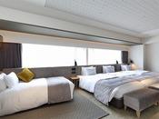 【デラックスクアッド】41.8平米/ベッド幅1200mm
