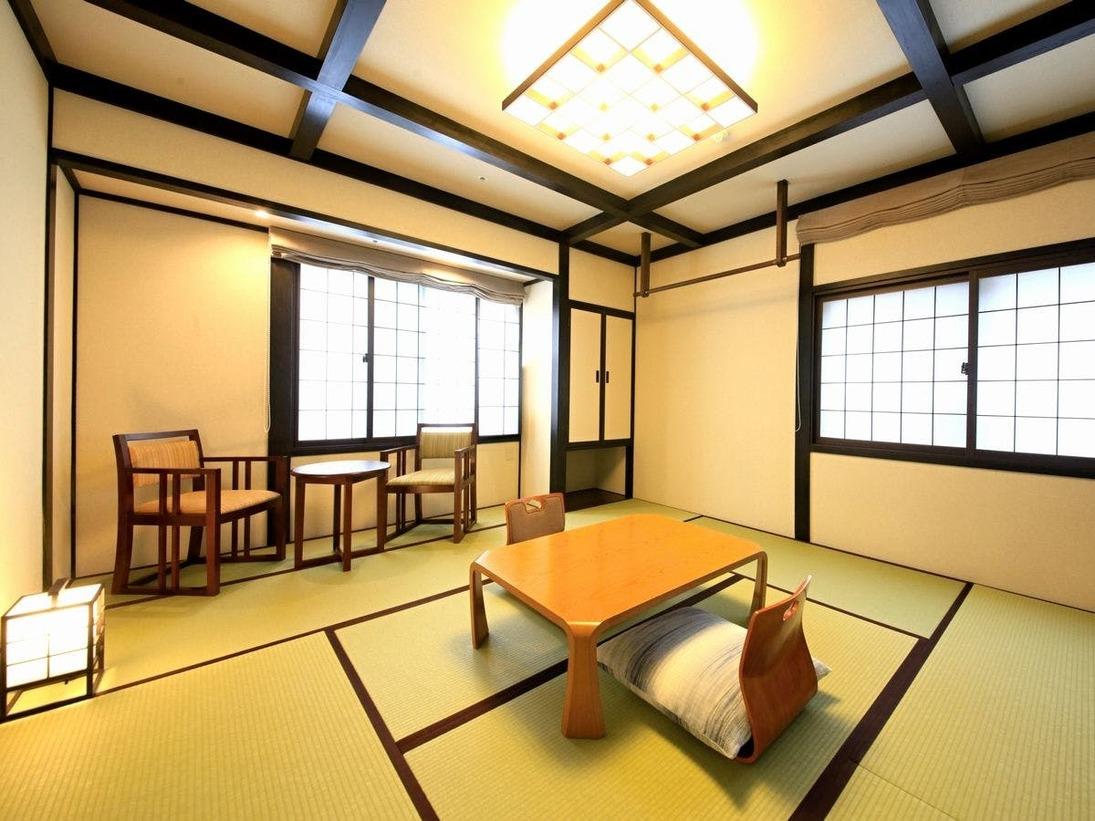 ■【レトロ風和室8畳一例】どこか懐かしい、モノトーンの落ち着いた空間 ※全館禁煙